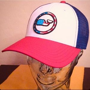 ONLY 1! Vineyard Vines Patriotic Trucker Cap